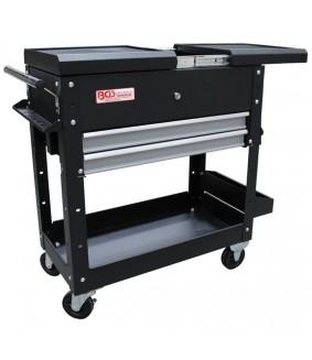 Servante d'atelier BGS vide - 2 tiroirs et tablette d'extension horizontale