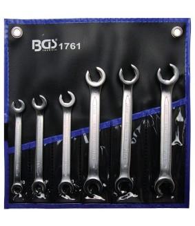 Jeu de clés à tuyauter BGS 8x10-17x19 mm BGS - 6 pièces