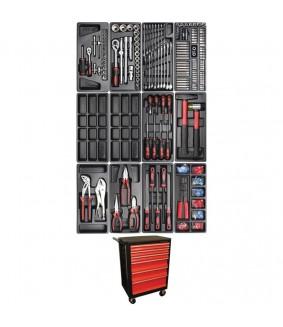 Servante d'atelier Kraftmann 6 tiroirs avec 156 outils