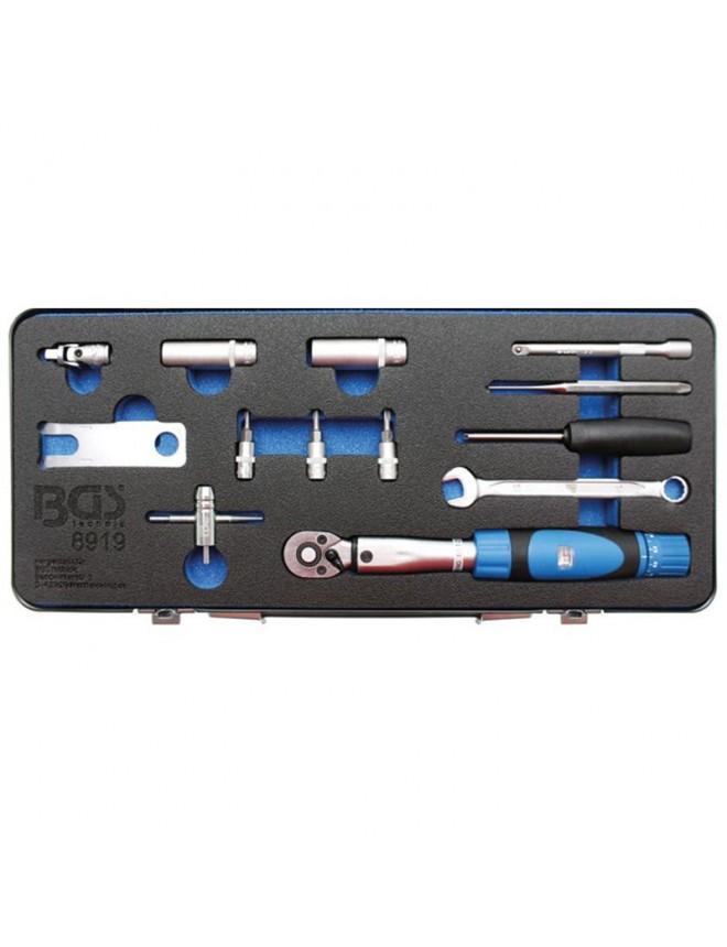 Jeu d'outils pour montage et démontage de valve TPMS 13 pièces BGS