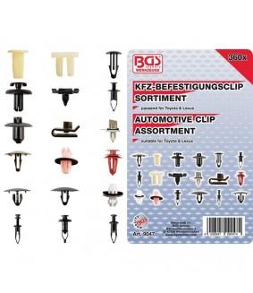 Assortiment de clips de fixation automobiles BGS pour Toyota et Lexus 360 pièces