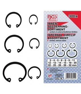 Assortiment de circlips intérieurs BGS Ø 3-32 mm 300 pièces