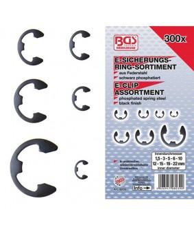 Assortiment de circlips BGS 1,5-22 mm 300 pièces