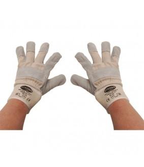 Gants de travail cuir rembourrés taille 10,5